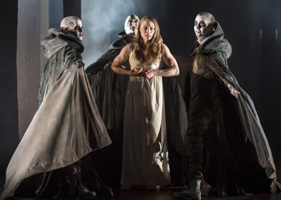 Production photo of Lady Macbeth and the Weird Sisters